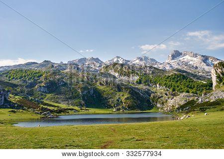La Ercina Lake. Covadonga. Asturias. Spain