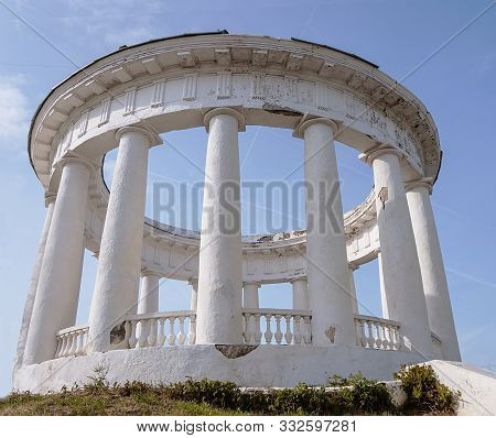 Building In The Style Of Stalin`s Empire. The Palaces Of Communism. South Of Russia, Tsimlyansk