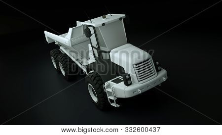 3d Rendered Illustration Of A Articulated Dump Truck