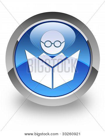 Icono brillante de E-learning