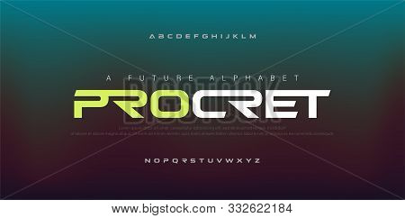 Abstract Digital Modern Alphabet Fonts. Typography Technology Electronic, Sport, Music, Future Creat