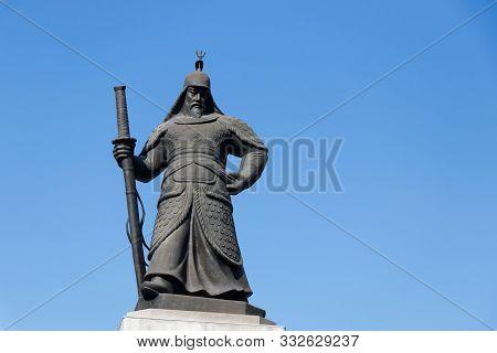 Seoul, South Korea-nov 4, 2018 : Statue Of Admiral Yi Sun-sin, Korean Naval Commander, Located At Gw