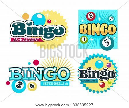 Bingo Lottery Isolated Icons, Gambling And Guessing Game