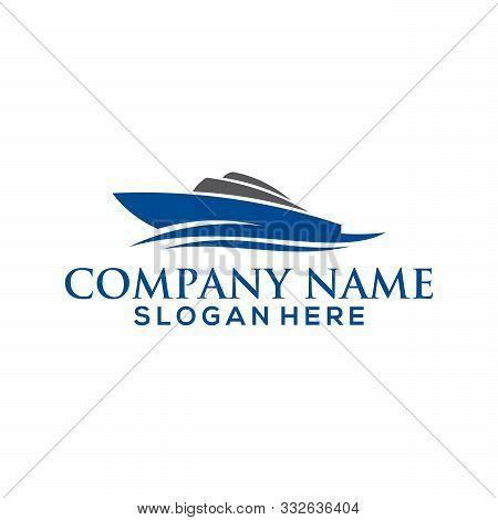Ship Logo, Sailing Boat Icon Vector Design, Cruise Ship Logo Template Vector Icon Illustration Desig