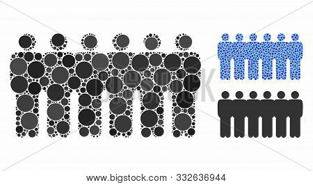 People Demographics Composition Of Small Circles In Variable Sizes And Shades, Based On People Demog