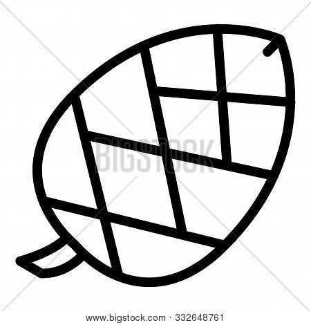 Unripe Spruce Cone Icon. Outline Unripe Spruce Cone Vector Icon For Web Design Isolated On White Bac