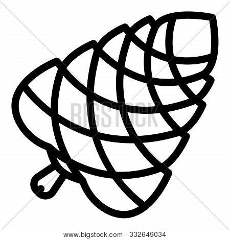 Pine Cone White Pine Icon. Outline Pine Cone White Pine Vector Icon For Web Design Isolated On White