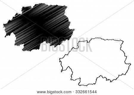Banska Bystrica Region (regions Of Slovakia, Slovak Republic) Map Vector Illustration, Scribble Sket