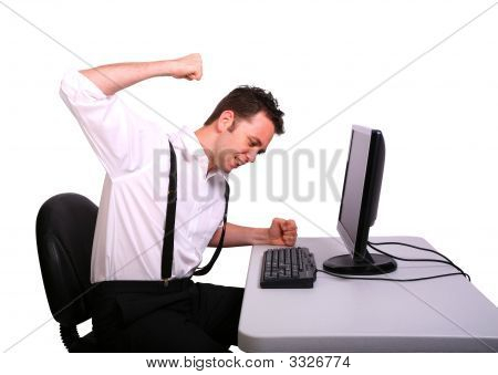 Frustrated Computer Operator