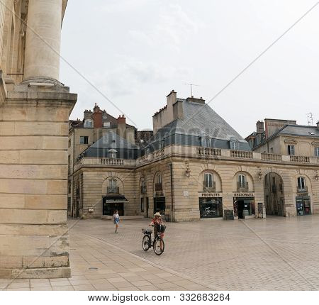View Of The Historic Place De La Liberacion Square In The French Town Of Dijon In Burgundy