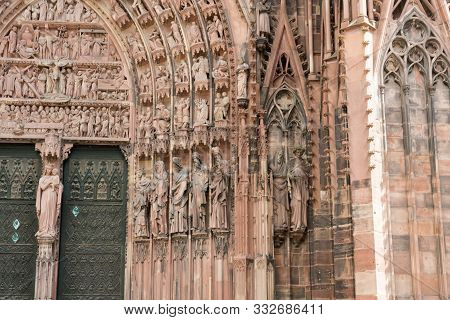 Detail View Of The Strasbourg Cathedral