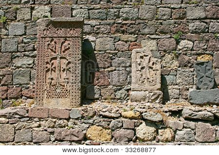 Cross-stones At Geghard Monastery
