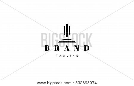 Vector Logo On Which An Abstract Image Of An Obelisk.
