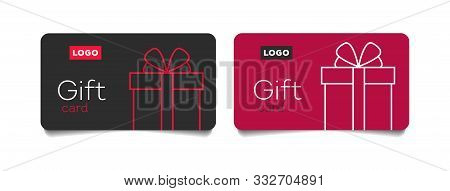 Loyalty Card, Incentive Gift, Collect Bonus, Earn Reward, Redeem Gift, Win Present, Vector Mono Line