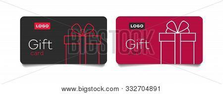 Loyalty Card, Incentive Gift, Collect Bonus, Earn Reward, Redeem Gift, Win Present, Vector Mono Line