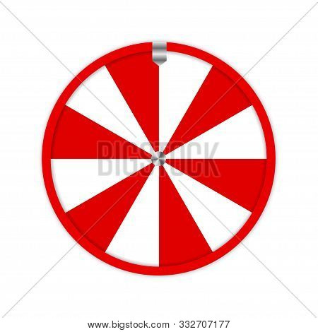 Red Fortune Wheel In Modern Style. Isolated Flat Vector Illustration. Success Vector Concept Illustr