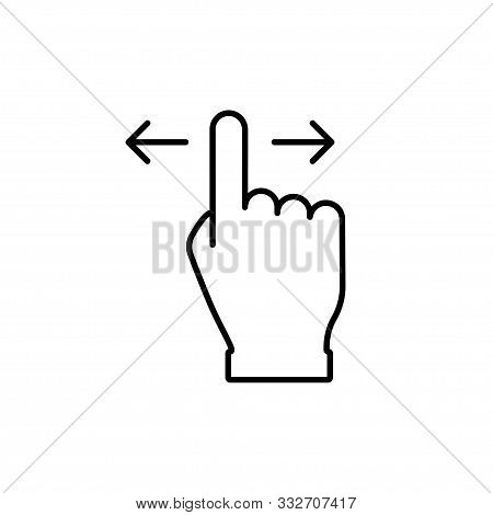 Hand Swipe In Linear Style Vector Isolated Icon. Finger Touch Outline Vector Icon. Swipe Up Icon. Mo