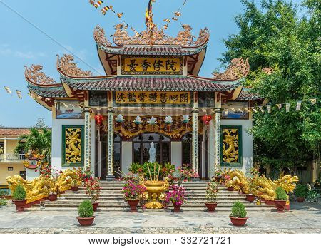 Nha Trang, Vietnam - March 11, 2019: Chua Loc Tho Buddhist Temple, Primary School And Orphanage. The