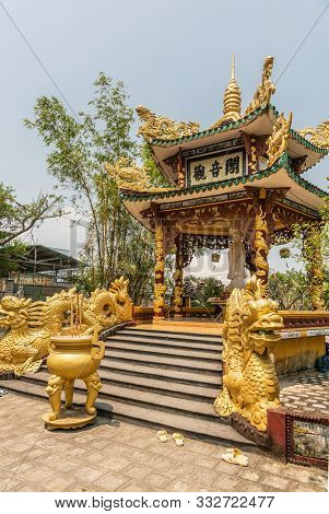 Nha Trang, Vietnam - March 11, 2019: Chua Loc Tho Buddhist Temple, Primary School And Orphanage. Clo