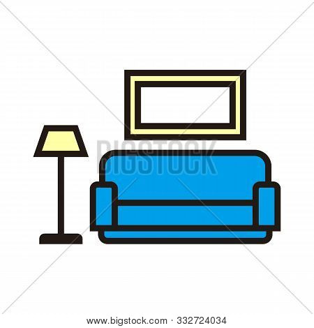 Living Room Icon Isolated On White Background From Interior Furniture Collection. Living Room Icon T