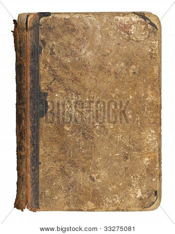 Old book, isolated on white