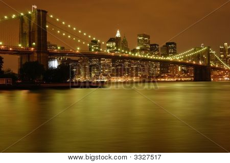 Soft Glow In New York City East River