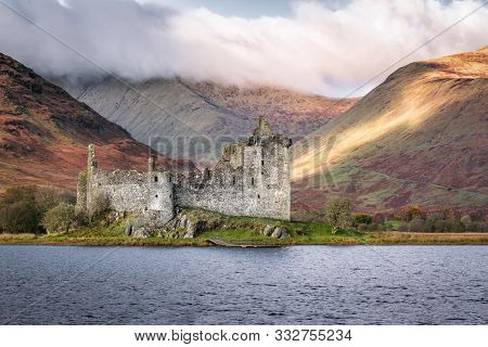 This Is The Ruins Of Kilchurn Castle  On The Edge Of Loch Awe In The Scottish Highlands