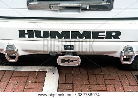 Minsk, Belarus, August 30, 2018: The Hummer H2 Is A Large Suv That Was Marketed By Hummer And Built