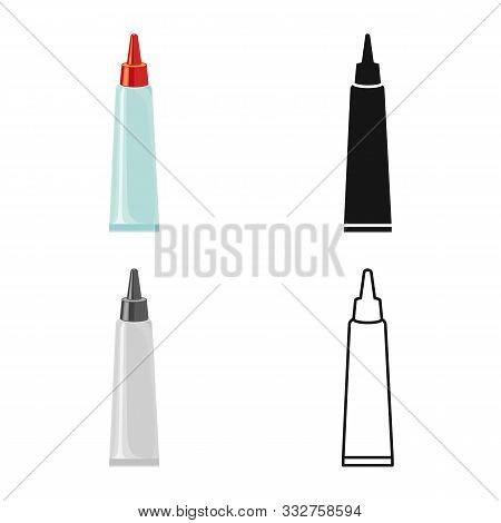 Isolated Object Of Tube And Super Logo. Graphic Of Tube And Caulk Stock Vector Illustration.