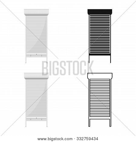 Vector Design Of Jalousie And Roll Icon. Web Element Of Jalousie And Bamboo Stock Vector Illustratio