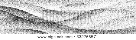 Abstract Stippled Halftoned Waves Background. Eps8. Rgb Global Colors