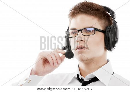 Young Man In Headset