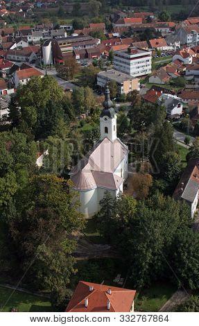 IVANIC GRAD, CROATIA - JUNE 19, 2011: church of the Saint Peter in Ivanic Grad, Croatia