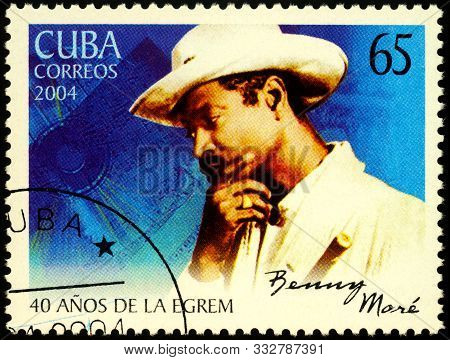 Moscow, Russia - November 11, 2019: Stamp Printed In Cuba Shows Portrait Of Bartolome Maximiliano Mo