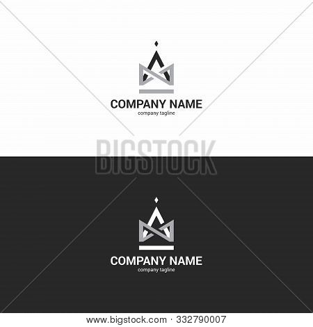 Modern Logo, Strict Shape Resembling A Crown. Logo For Marketing Agency, Architectural Studio Or Any