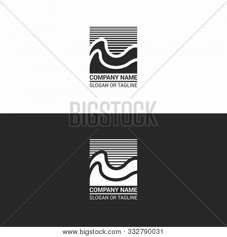 Modern Abstract Logo With Waves. Universal Abstract Sign, Suitable For Various Activities