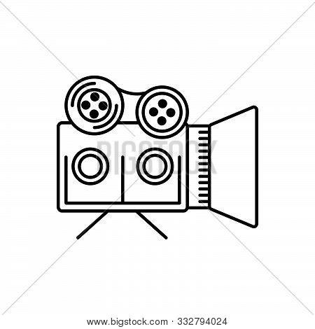 Black Line Icon For Documentaries Documentary-film Filmmaking Broadcasting Videographer
