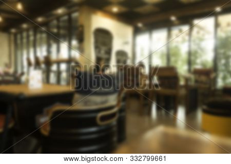 Background Blurred Cafe, Cafe Blurred Background With Bokeh