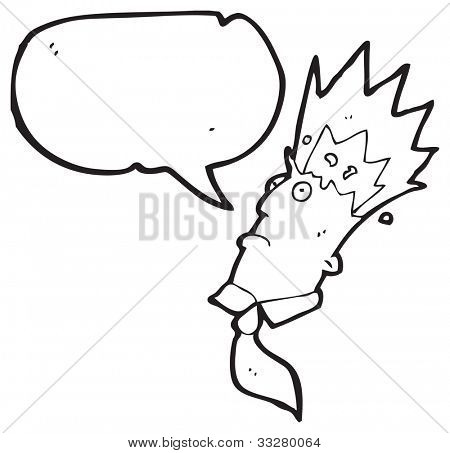 cartoon exploding head man