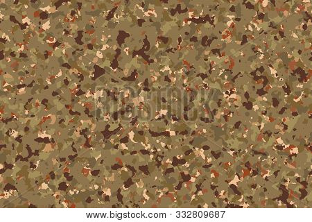 Dry Evergreen Forest Camouflage (autumn, Dry Season), Fashion Pattern For Use In The Army To Camoufl