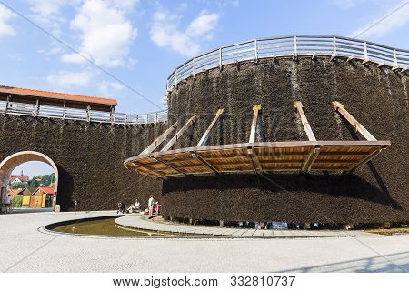 Wieliczka, Poland - June 20, 2018: Graduation Tower, Great Inhalatorium In The Resort Near Krakow. I