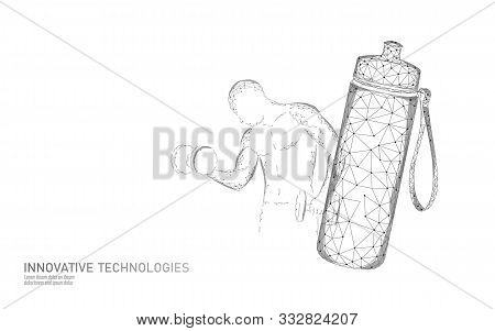 Water Aqua Bottle Athlete Rehydration Concept. Health Care Against Dehydration Isotonic Electrolytes
