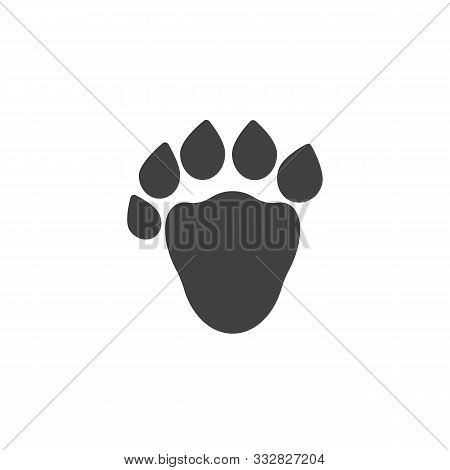 Sable Paw Print Vector Icon. Filled Flat Sign For Mobile Concept And Web Design. Sable Animal Footpr