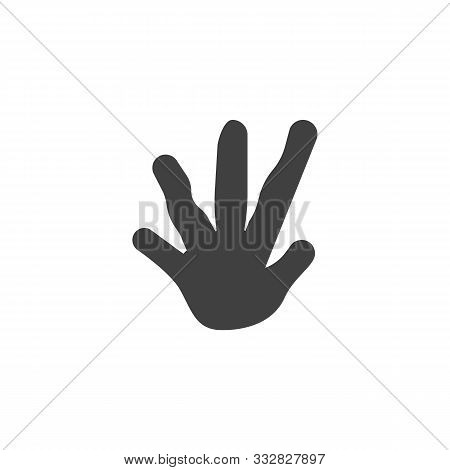 Iguana Paw Print Vector Icon. Filled Flat Sign For Mobile Concept And Web Design. Guana Animal Footp