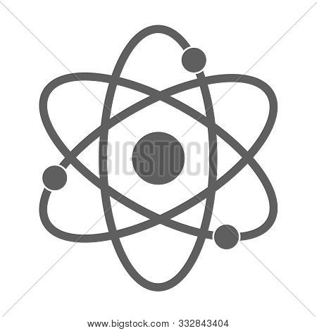 Atom Graphic Icon. Atom Sign Isolated On White Background. Atom Symbol, Chemistry & Science Research