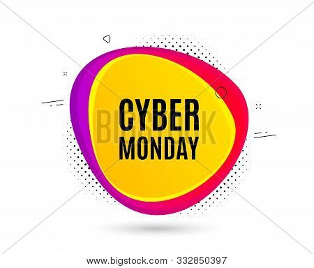 Cyber Monday Sale. Banner Text Shape. Special Offer Price Sign. Advertising Discounts Symbol. Geomet