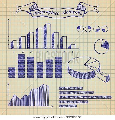 Infographics elements sketch