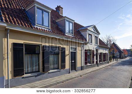 Nostalgia street in Vianen in the Netherlands poster