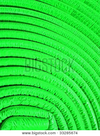 Abstract Uneven Round Material, Green Roll
