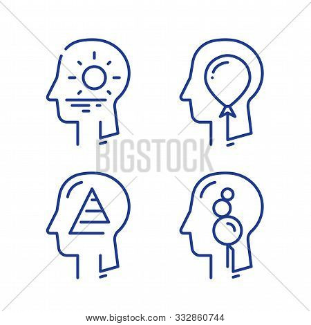 Human Head Profile, Cognitive Psychology Or Psychotherapy Concept, Self Esteem Or Ego, Inner Calm Or
